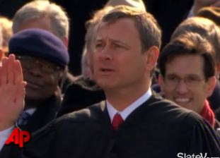 Chief Justice Roberts Administers Oath of Office