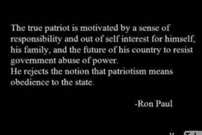 Ron Paul on Patriotism